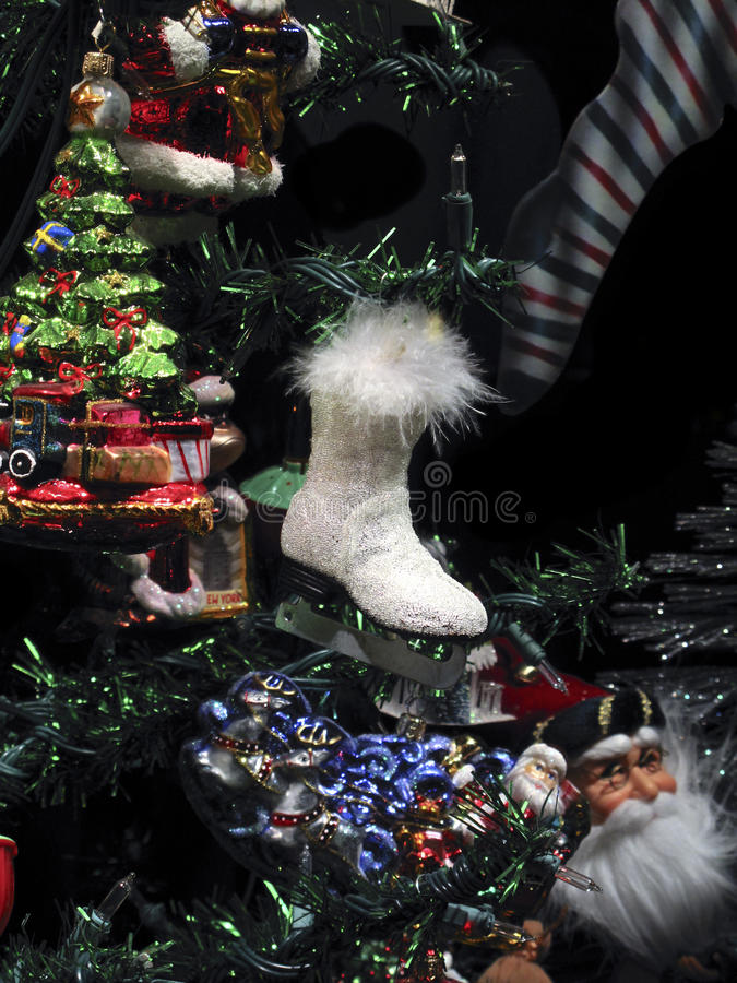 Christmas Ice Skate Ornament royalty free stock images