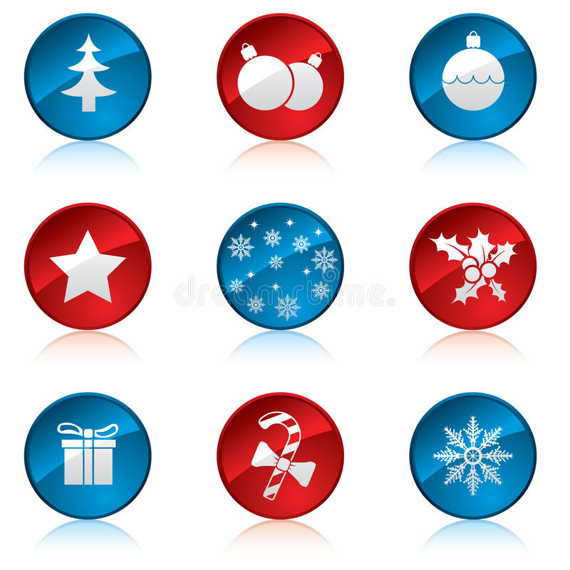 Download Christmas icon set stock vector. Image of silver, tradition - 16794669
