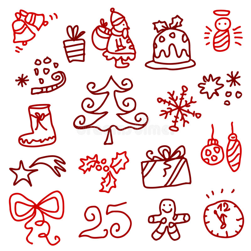 Download Christmas Icons 1 Royalty Free Stock Images - Image: 6619589