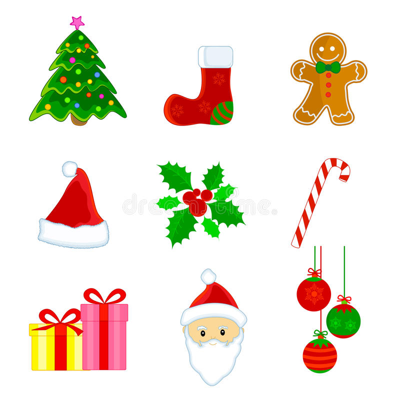 Download Christmas Icons Royalty Free Stock Photo - Image: 11474345