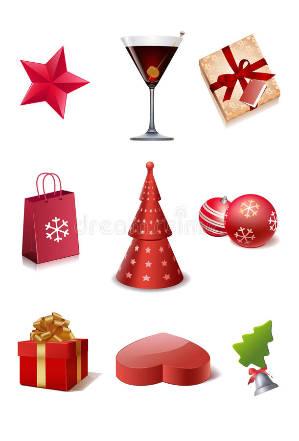 Free Christmas Icons Stock Photography - 13910602