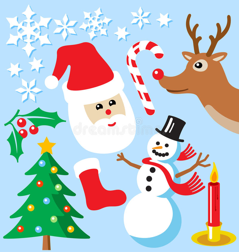 Download Christmas Icons stock vector. Image of icons, design - 14968696