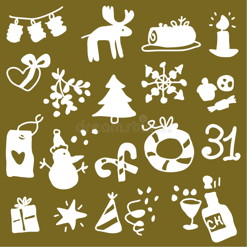 Download Christmas icons 2 stock vector. Illustration of party - 6619597