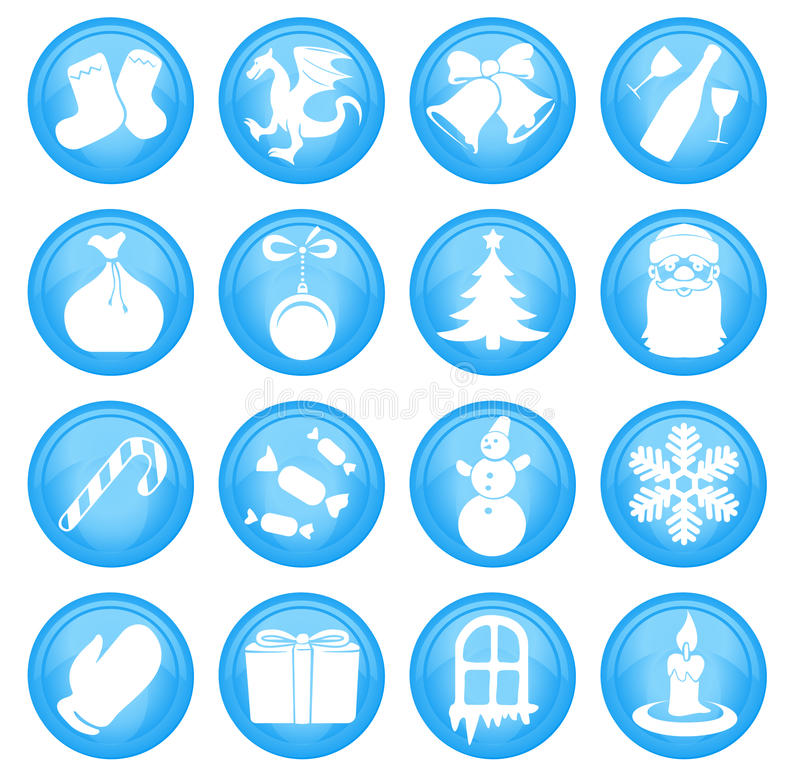 Download Christmas icons stock vector. Image of candle, candy - 22267497