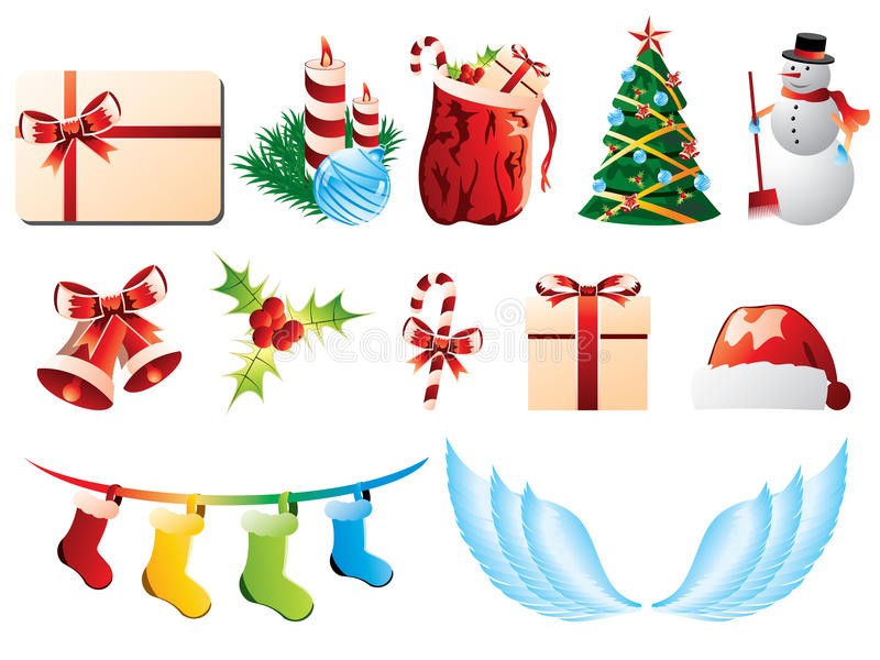 Download Christmas icons stock vector. Illustration of candy, green - 25612568