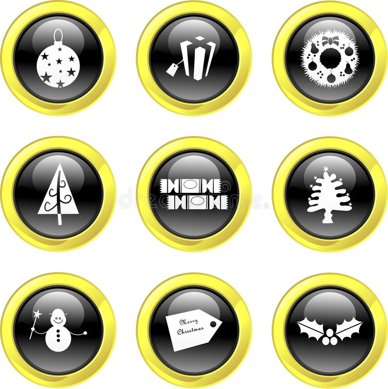 Download Christmas icons stock vector. Image of clip, notice, medal - 3398083