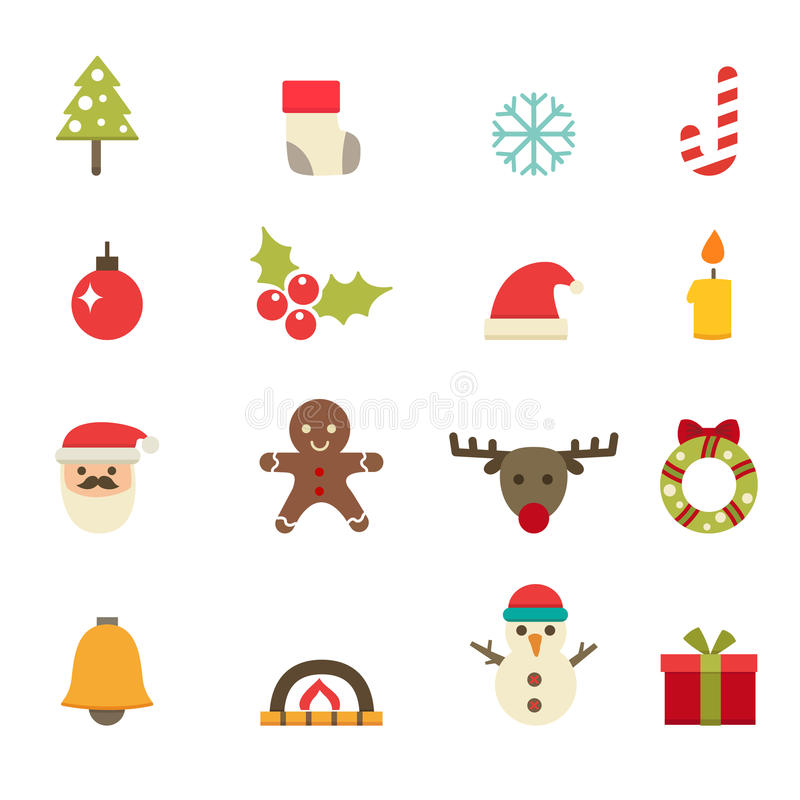 Free Christmas Icons Stock Images - 44342944