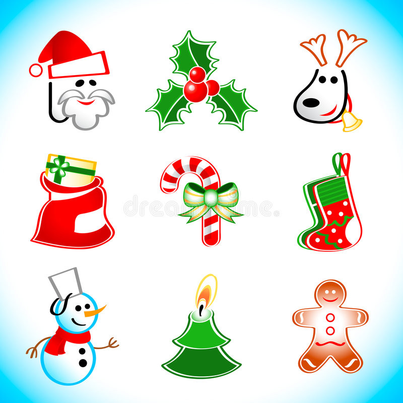 Christmas icons vector illustration