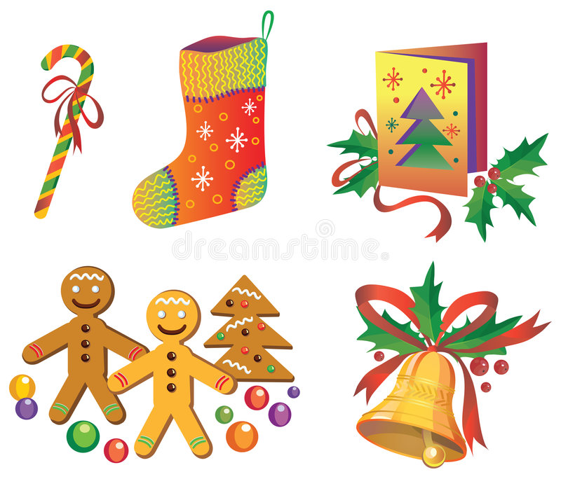 Download Christmas Icons Royalty Free Stock Photo - Image: 7150185