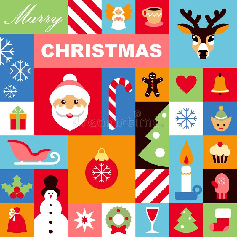 Download Christmas icons background stock vector. Image of christmas - 35076351