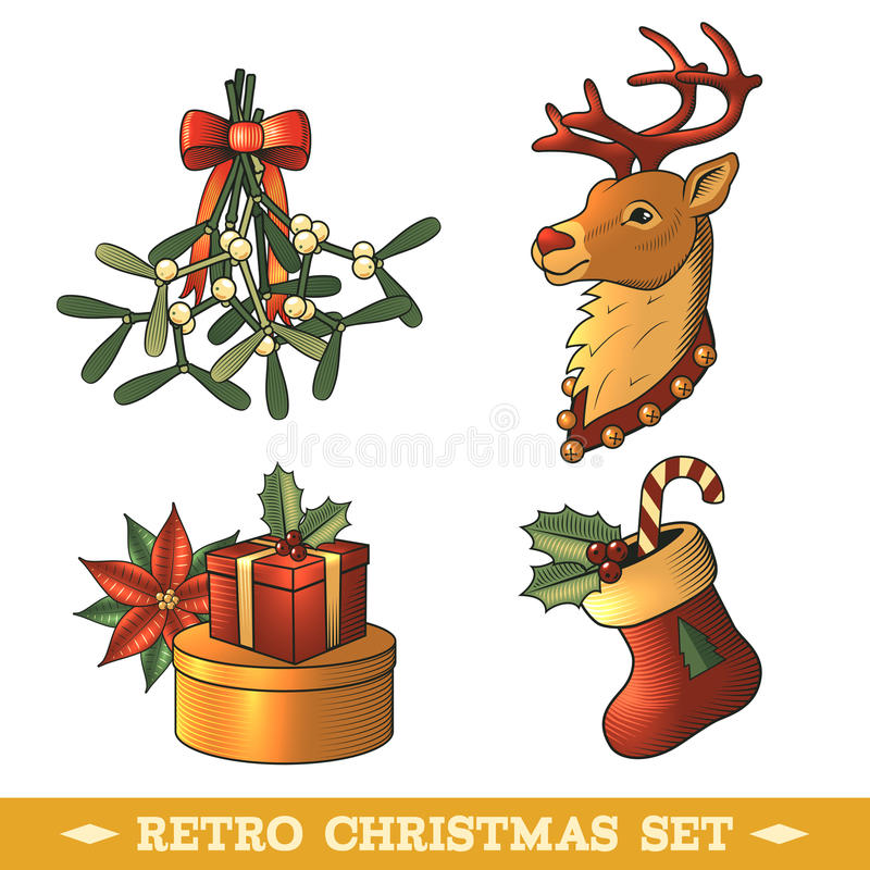 Download Christmas Icons Colored Set Stock Vector - Image: 46134594