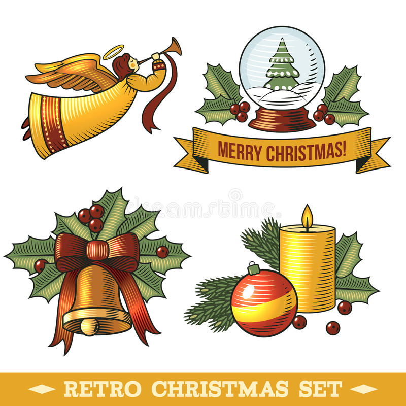 Download Christmas icons set stock vector. Image of ornament, gift - 46134591