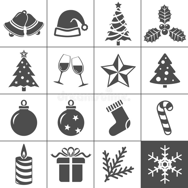 Download Christmas Icons Set - Simplus Series Stock Vector - Image: 27495983