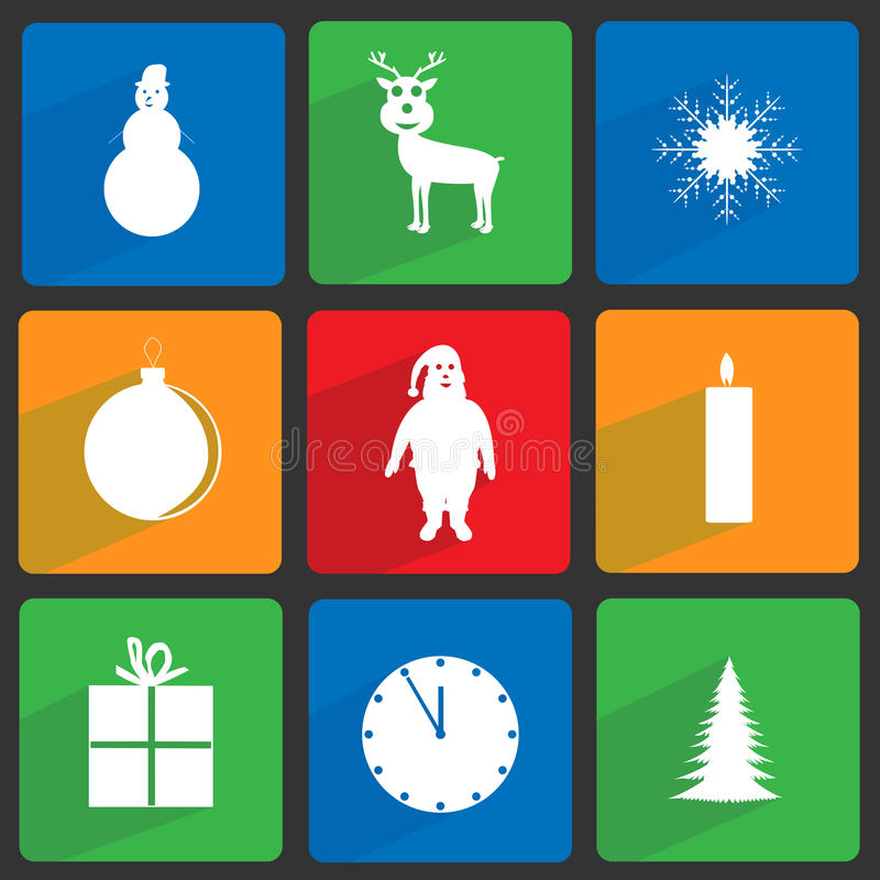 Download Christmas icons set stock vector. Image of design, holidays - 36116369