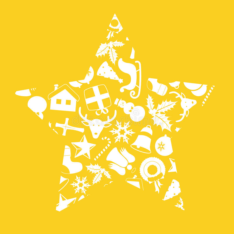 Download Christmas Icons In Star Shape Stock Vector - Image: 11994640