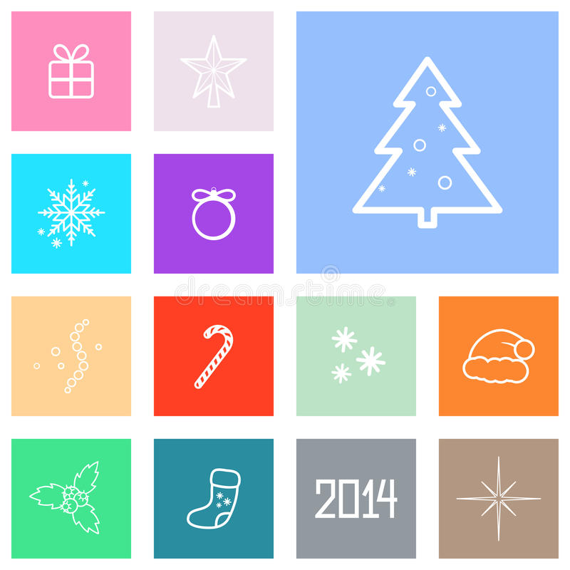 Download Christmas Icons stock vector. Illustration of sock, tree - 33054181