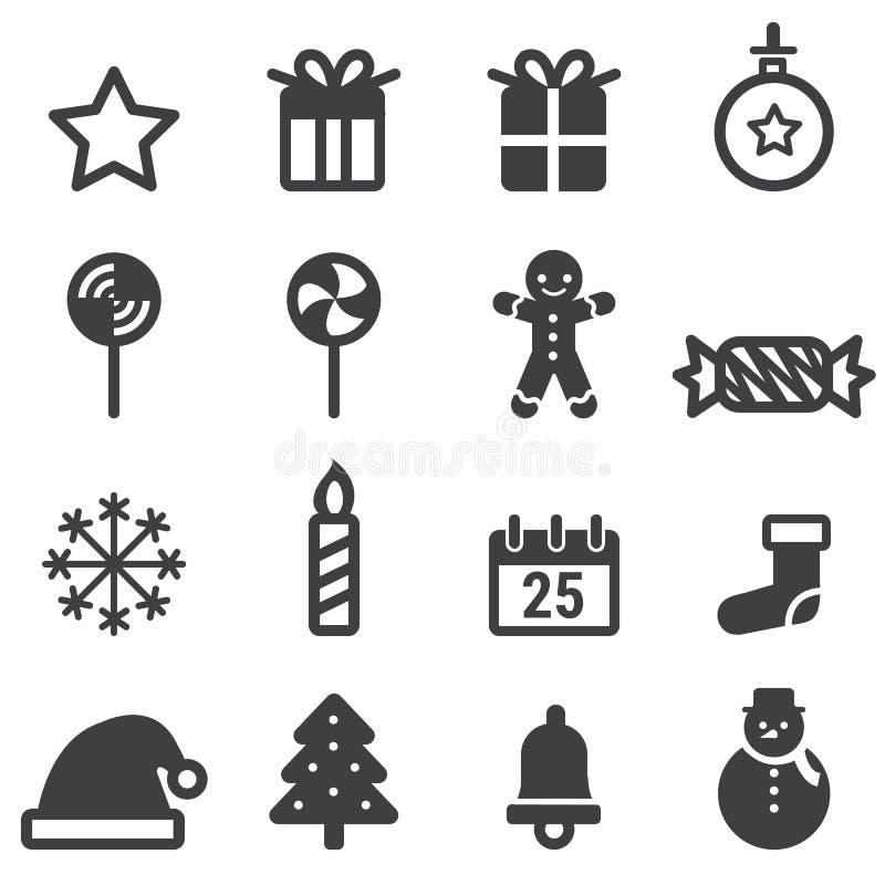Christmas Icons, vector illustion flat design style. Christmas Icons on white background, vector illustion flat design style royalty free illustration