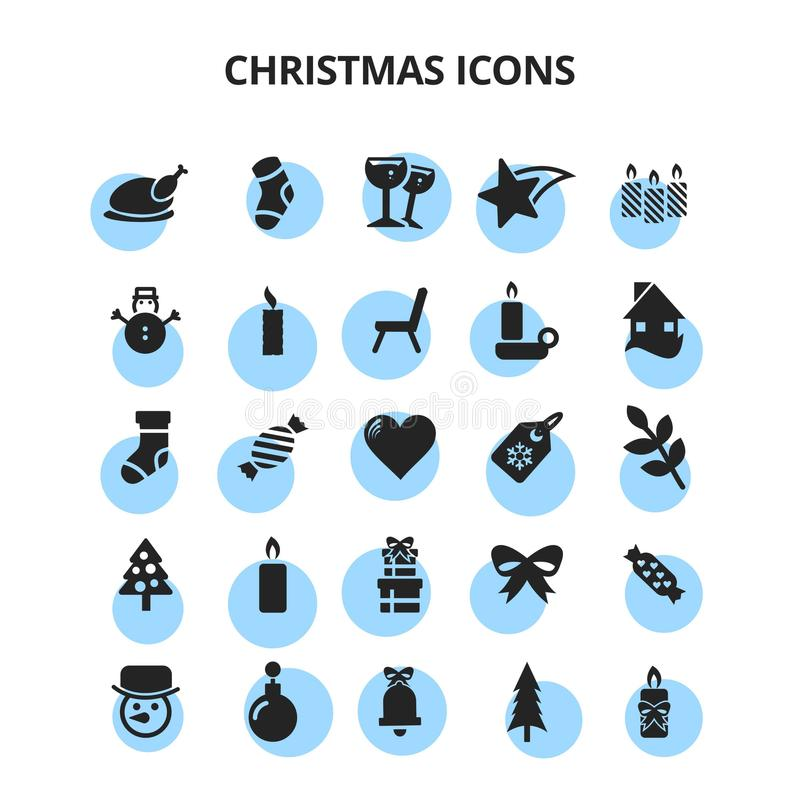 Christmas Icons. For web design and application interface, also useful for infographics. Vector illustration stock illustration