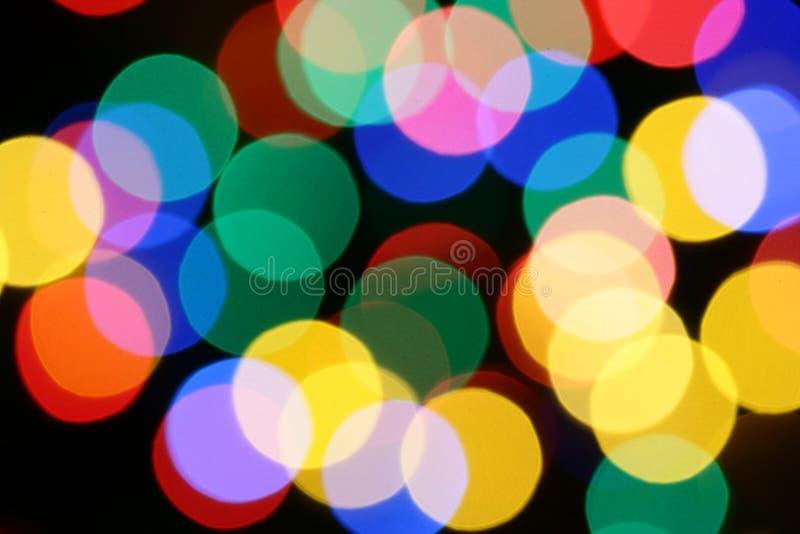 Christmas illumination. Christmas festive illumination out of focus, may be used as background royalty free stock photo