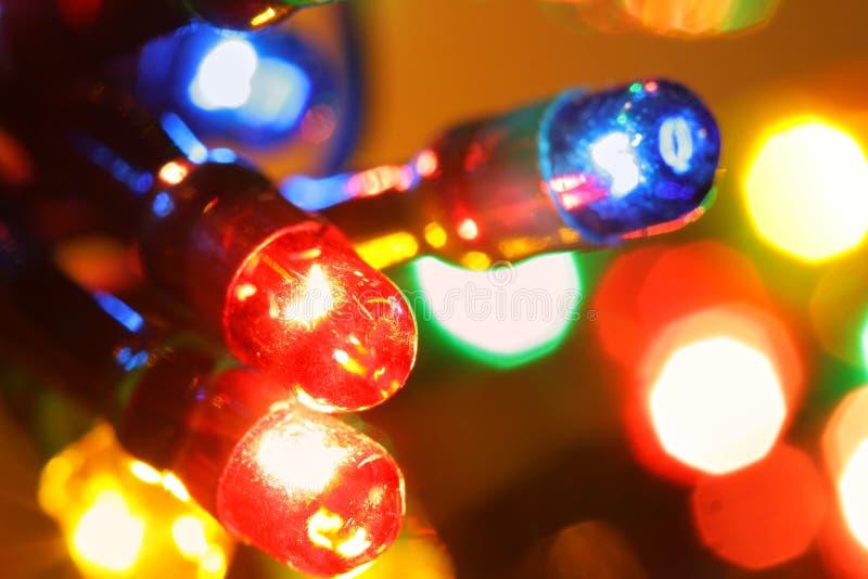 Christmas illumination stock images