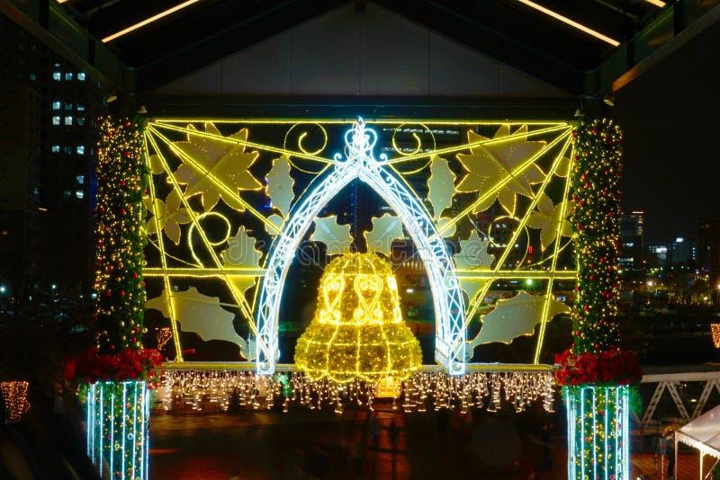 Christmas illuminations. Shooting location : Yokohama-city kanagawa prefecture stock image