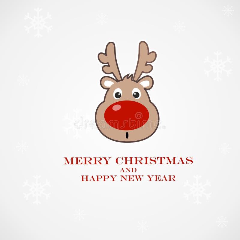 Download Christmas Illustration With Funny Deer Stock Illustration - Image: 36661899