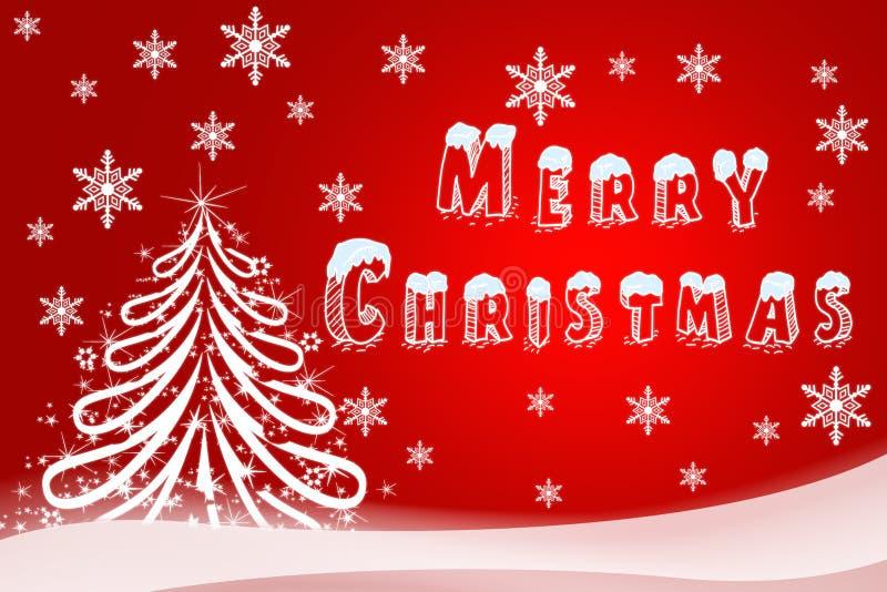 Christmas illustration of a holiday card. Hand-drawn image of Ha royalty free illustration