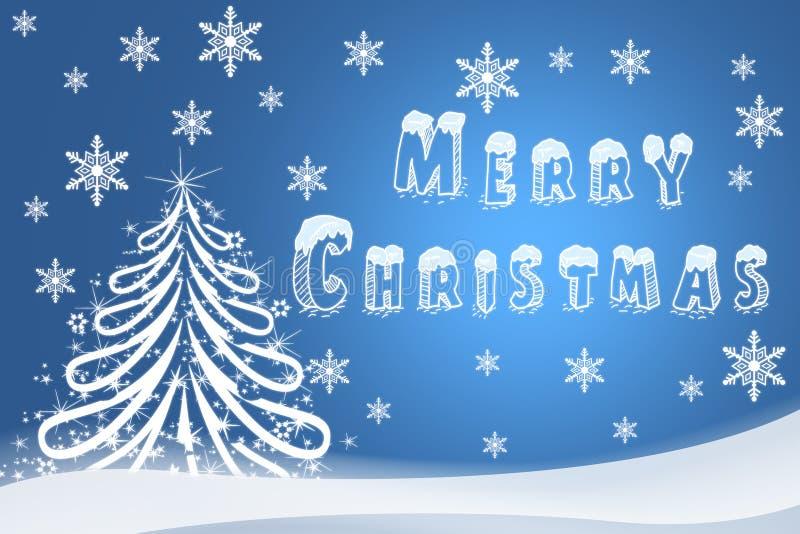 Christmas illustration of a holiday card. Hand-drawn image of Ha vector illustration