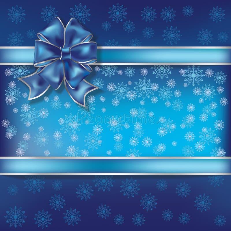 Christmas illustration on a snowflakes background royalty free illustration