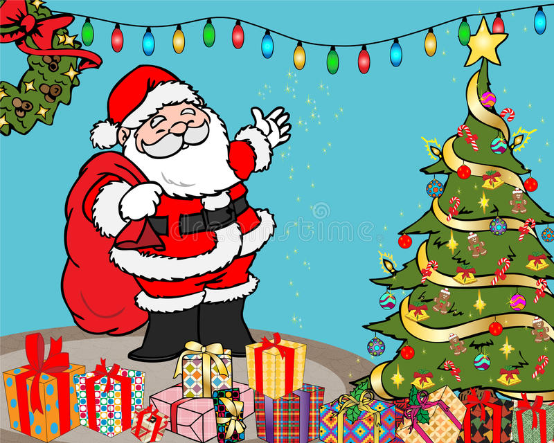 christmas illustration surprises στοκ φωτογραφία με δικαίωμα ελεύθερης χρήσης