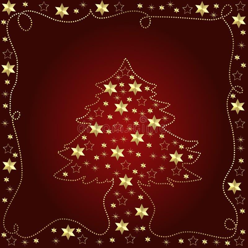 christmas illustration tree διανυσματική απεικόνιση