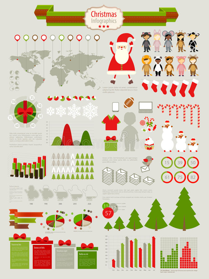 Download Christmas Infographic set stock vector. Image of chart - 27307778