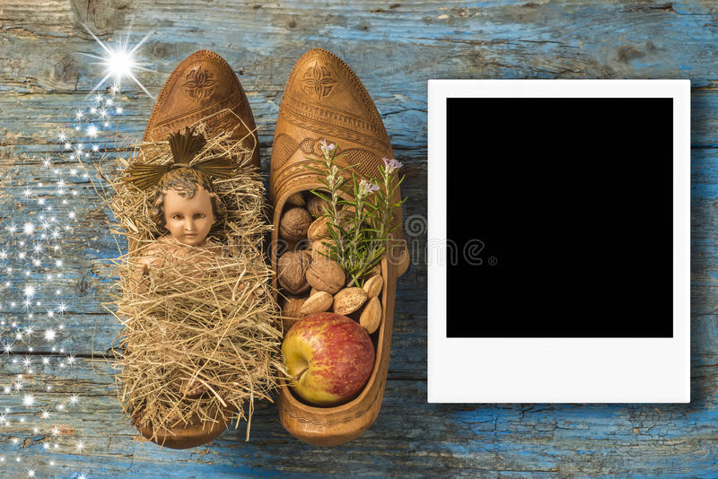 Christmas Instant Photo Frame Baby Jesus Stock Photo - Image of ...
