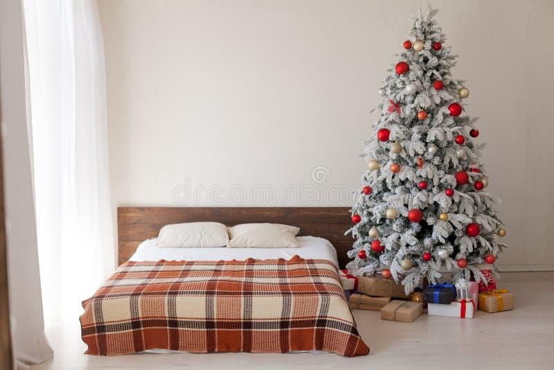Christmas Interior bedroom house new year Christmas royalty free stock image
