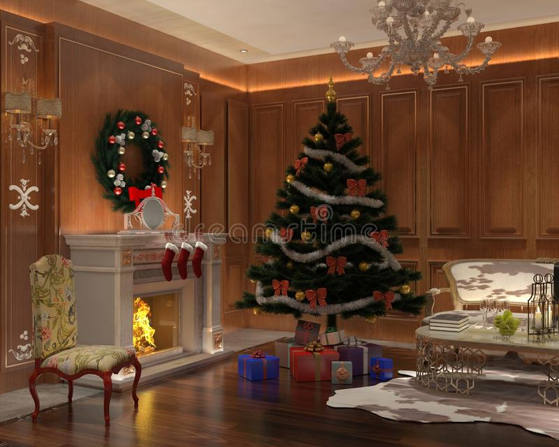 Christmas Interior stock photos