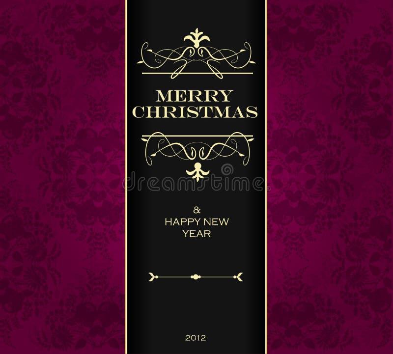 Christmas invitation card. stock illustration