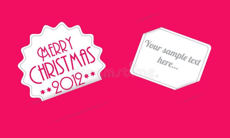 Christmas invitation card royalty free stock photography