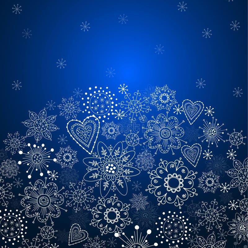 Christmas invitation card with blue background stock vector download christmas invitation card with blue background stock vector illustration of card element stopboris Choice Image