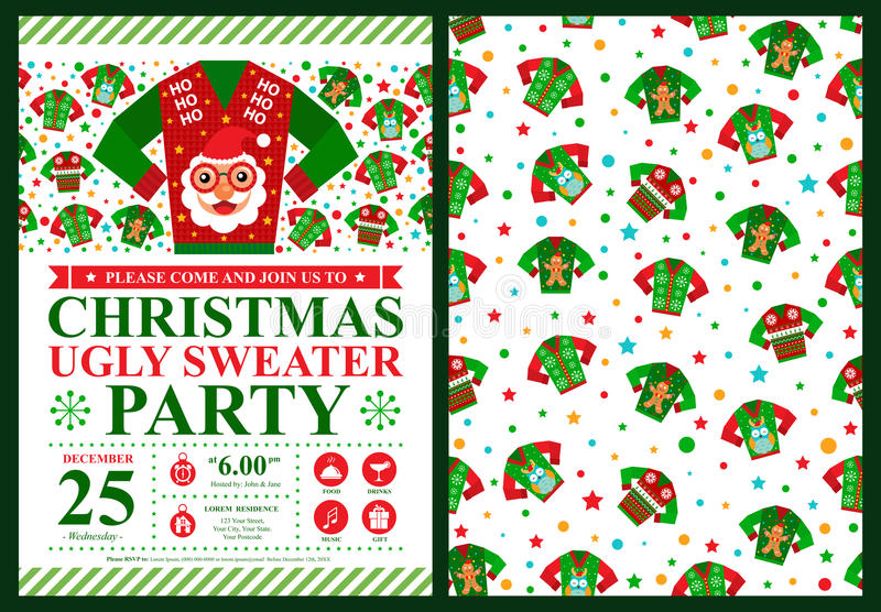 Christmas invitation card royalty free illustration