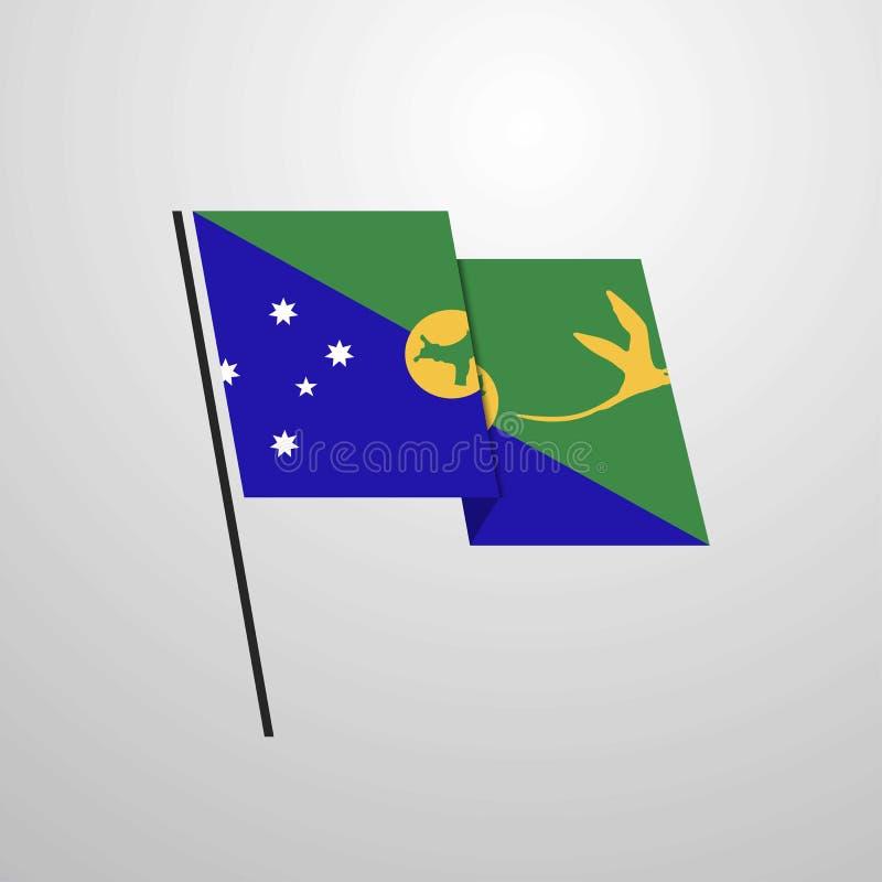 Christmas Island Waving Flag Design Vector Background Stock Vector - Illustration of wavy, icon ...