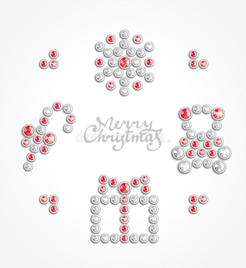 Download Christmas jewel icon set stock vector. Image of decoration - 17423888