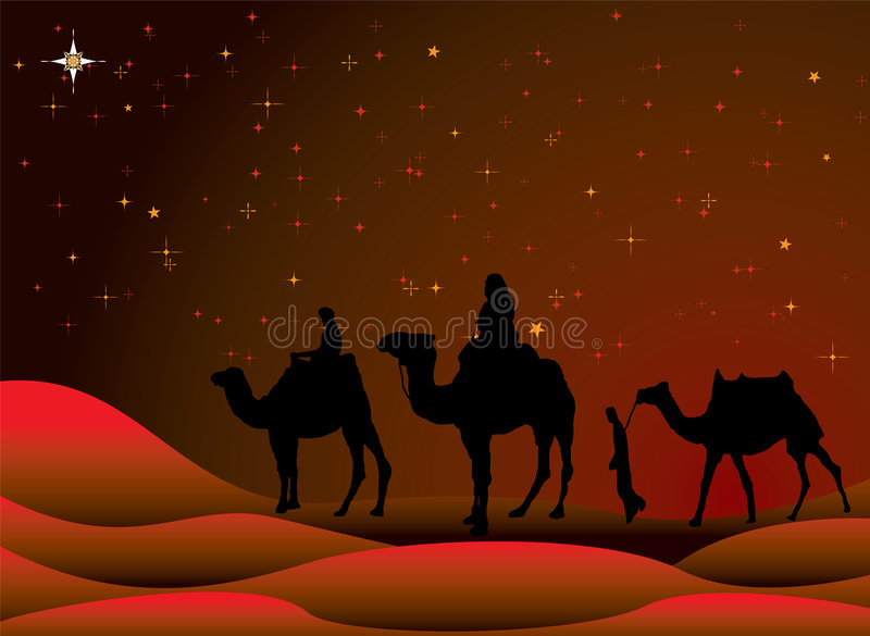 Christmas journey royalty free illustration