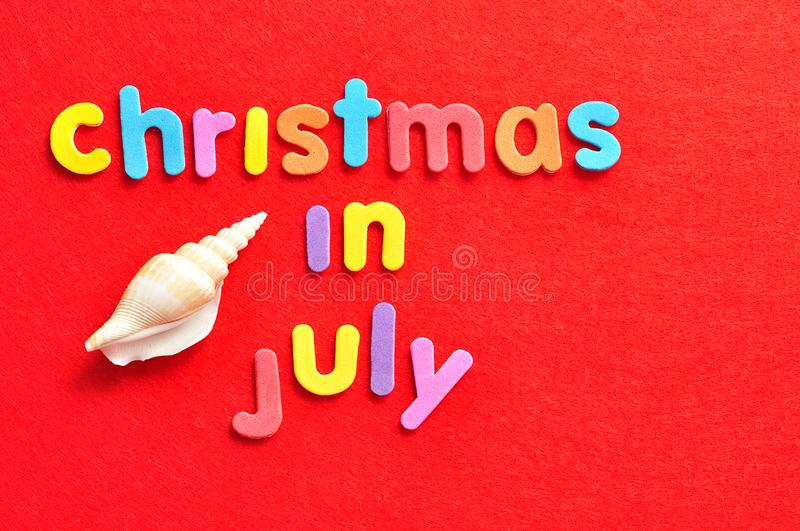 Christmas in July with a shell royalty free stock images