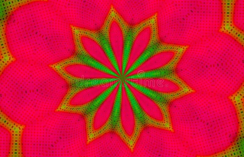 Christmas Kaleidoscope wallpaper background stock illustration