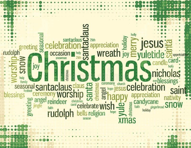 Christmas keywords. A vector illustration of various Christmas related keywords royalty free illustration