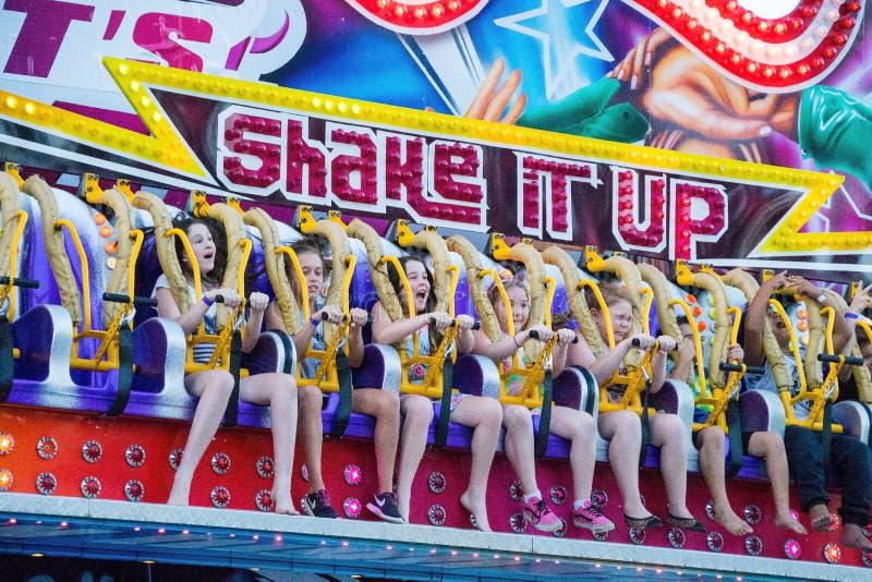 Christmas Kids Amusement Ride royalty free stock photography