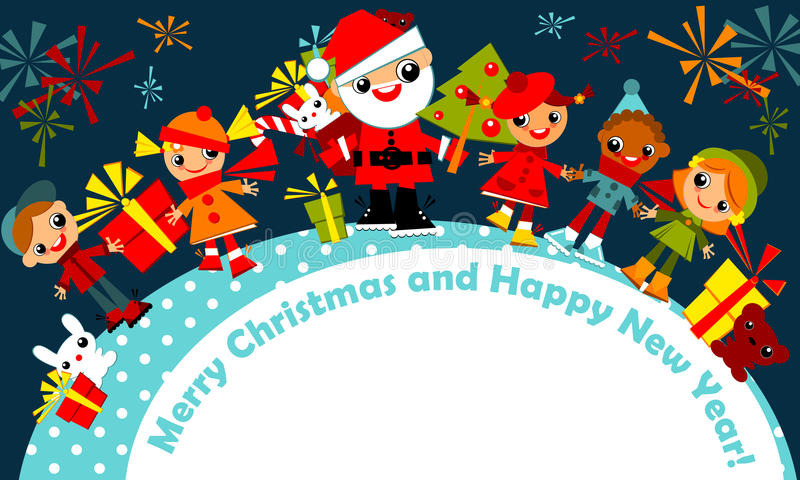 Download Christmas Kids. Greeting Card Stock Vector - Illustration: 22335668