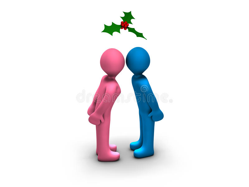 Download Christmas Kiss Royalty Free Stock Image - Image: 20324116