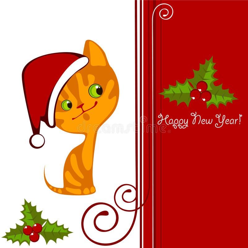 Download Christmas kitten 2 stock vector. Illustration of elements - 21527997