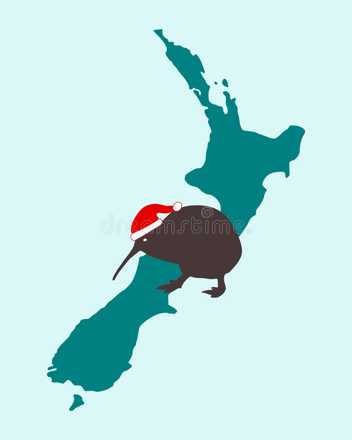 Download Christmas Kiwi In New Zealand Stock Vector - Image: 6477858
